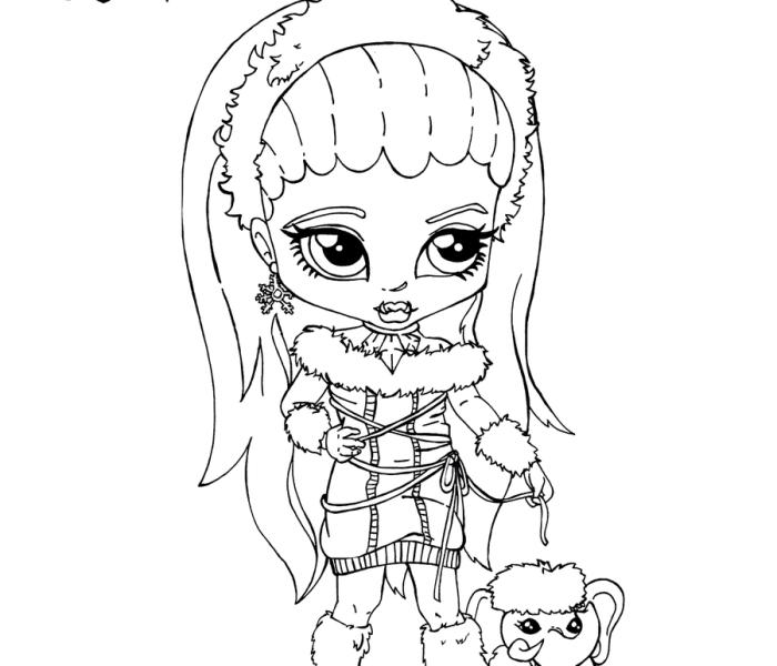Раскраски Monster High Эбби Боминабл
