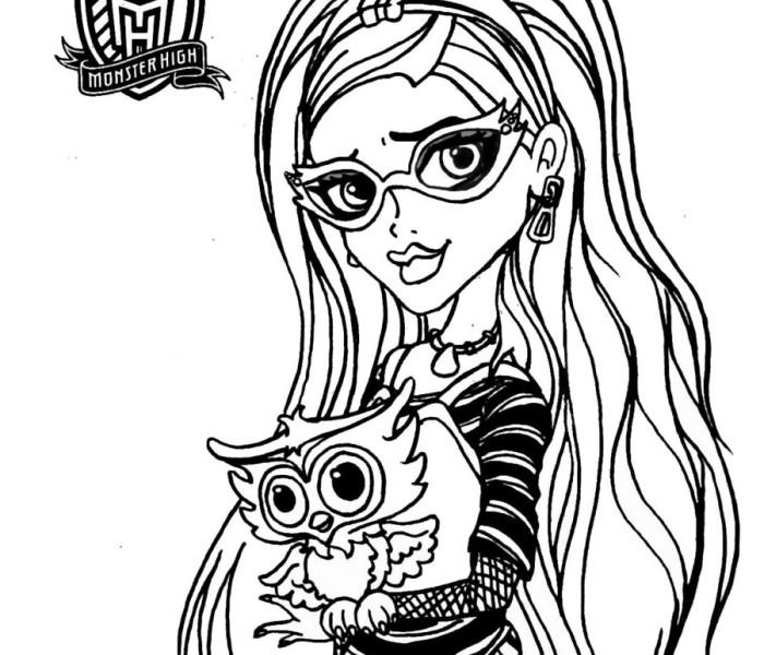 Раскраски Monster High Гулия Йелпс