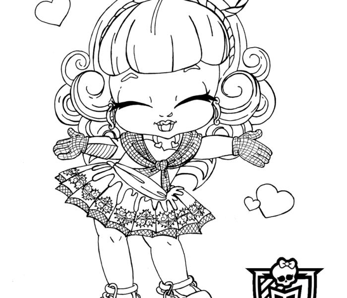 Раскраски Monster High Купид