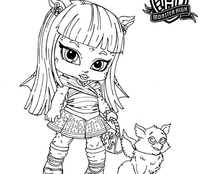 Раскраски Monster High Рошель Гойл