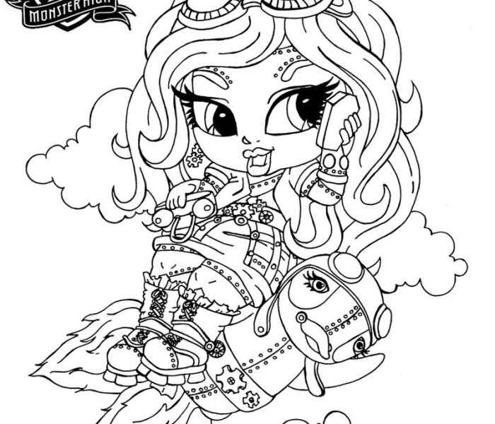Раскраски Monster High — Робекка Стим