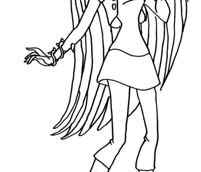Раскраски Monster High Венера Макфлайтрап