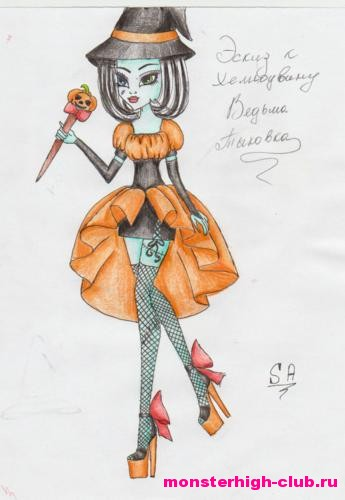 Как сделать выкройку платья для кукол монстер хай