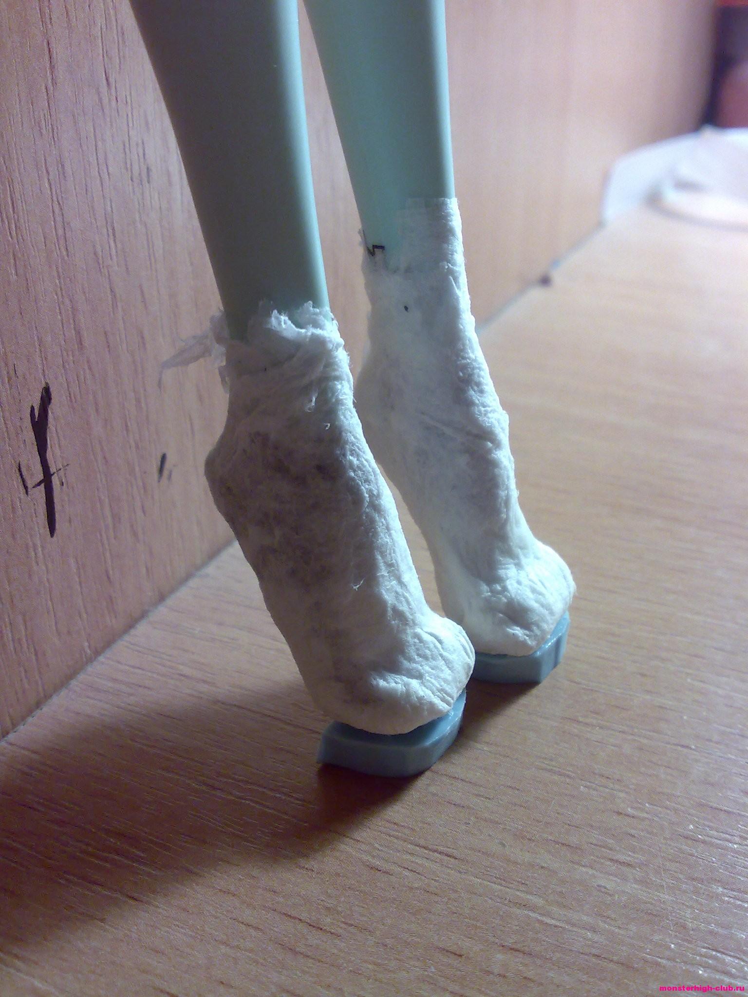 Туфли для кукол барби как сделать