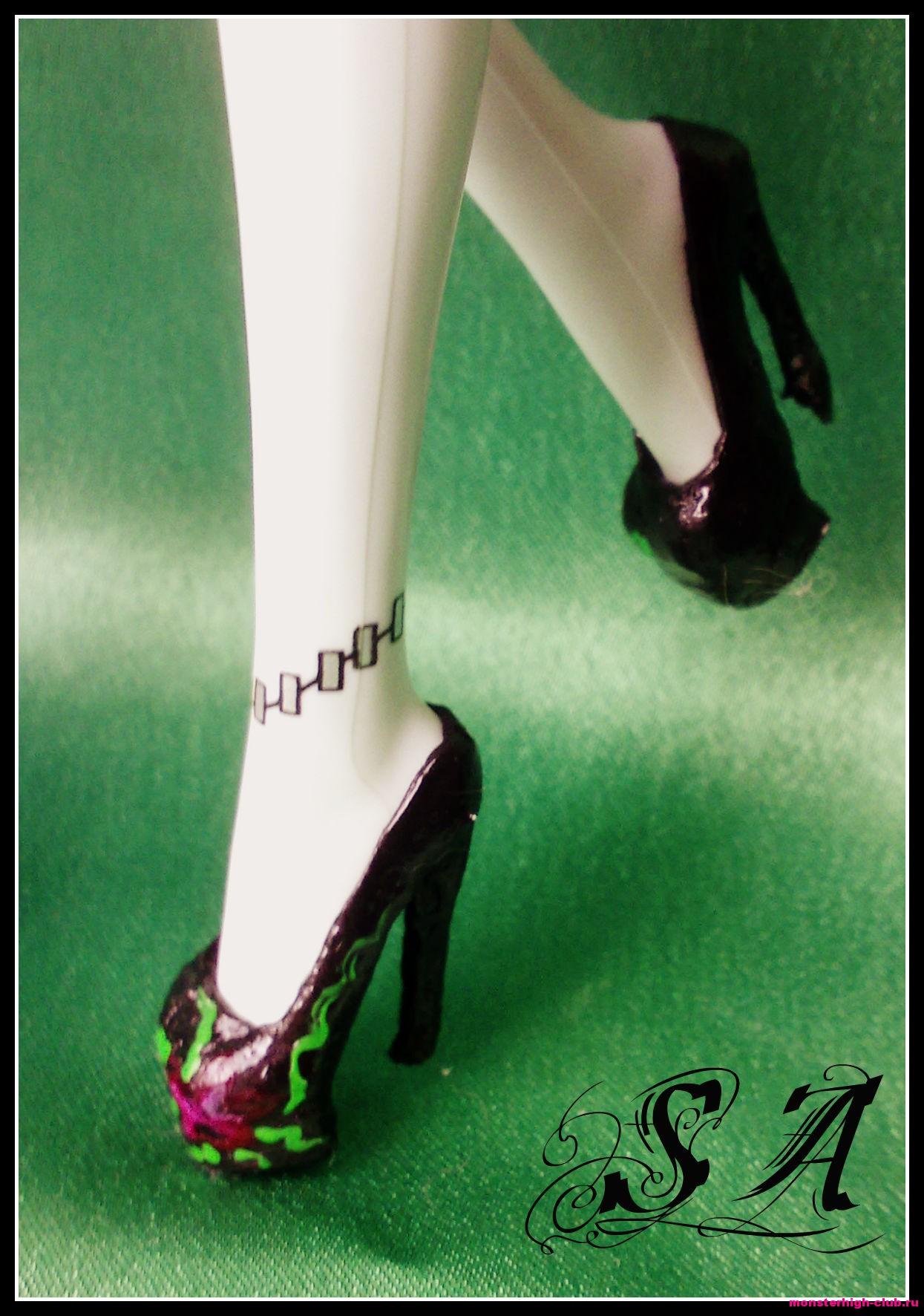 Туфли для кукол монстер хай своими руками видео