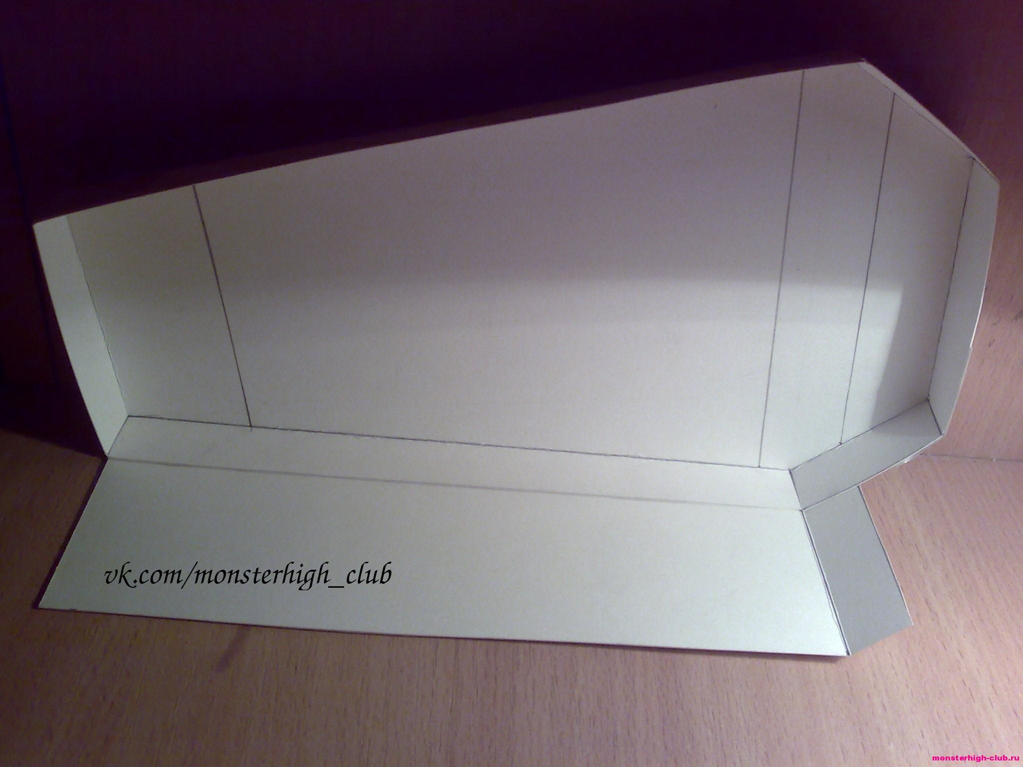Шкаф для куклы из бумаги своими руками