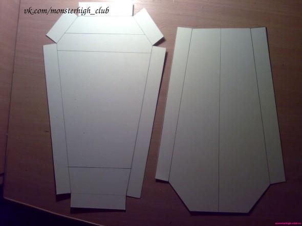 Как сделать шкафчик для кукол из бумаги