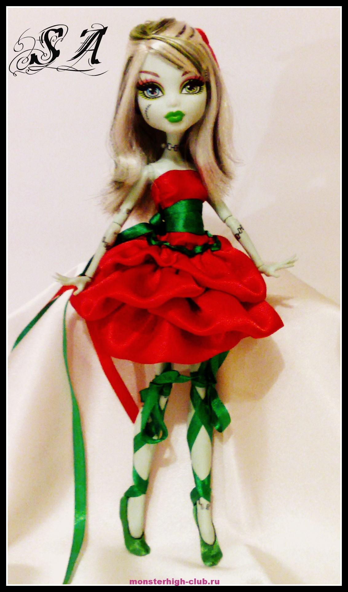 Свадебное платье для куклы монстер хай своими руками