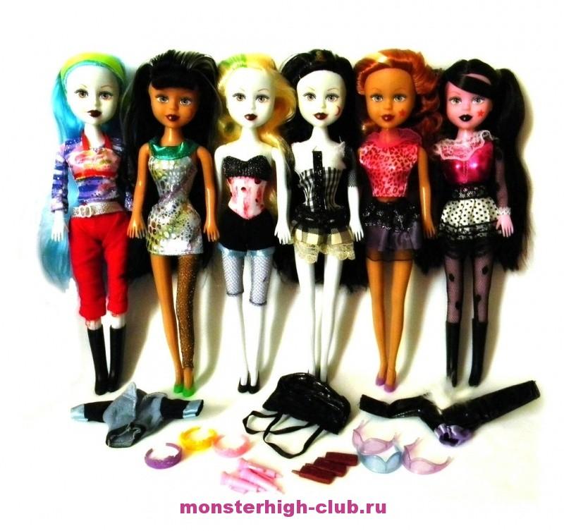 Видео монстер хай куклы играют