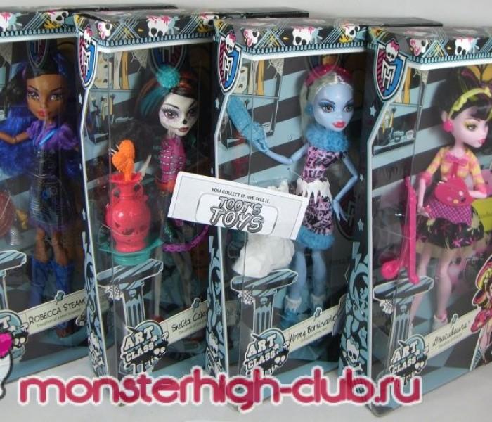 Коробки кукол Monster High из серии «Art-Class»