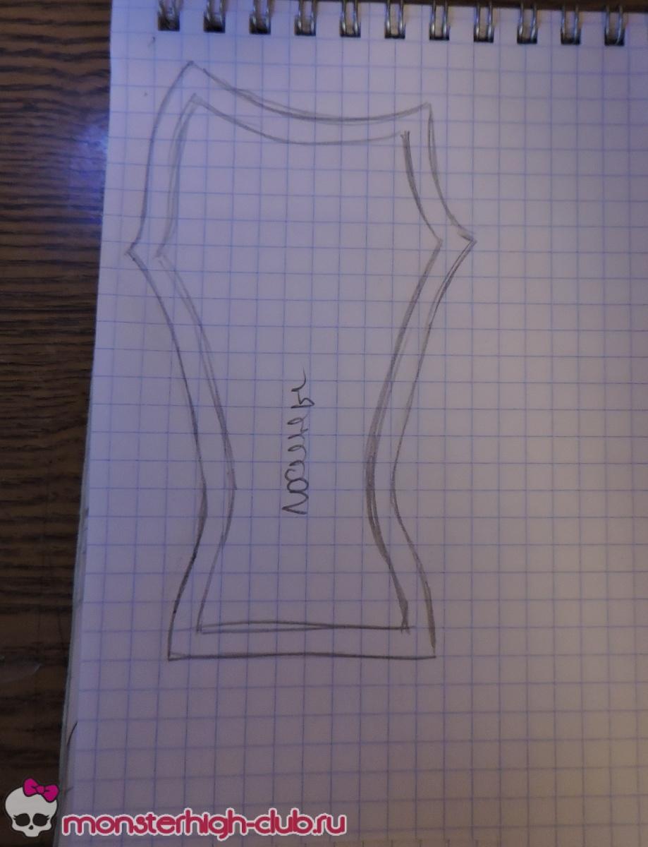 Свитшот для куклы: шьем стильную обновку Ярмарка Мастеров 51