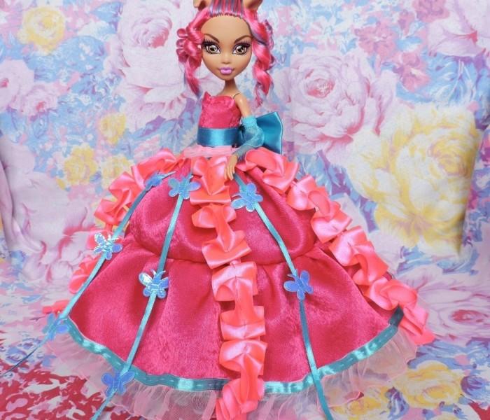 Романтичное монстробальное платье для малявочки Monster High