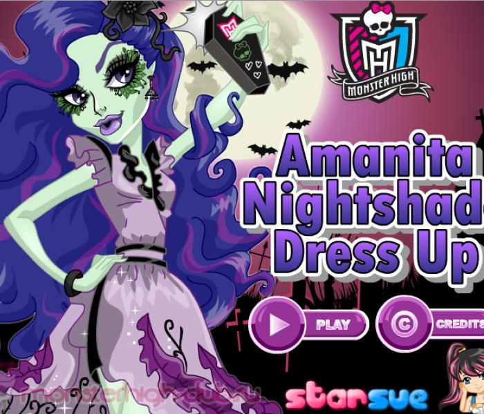 Одевалка Аманиты Найтшейд — игры Monster High