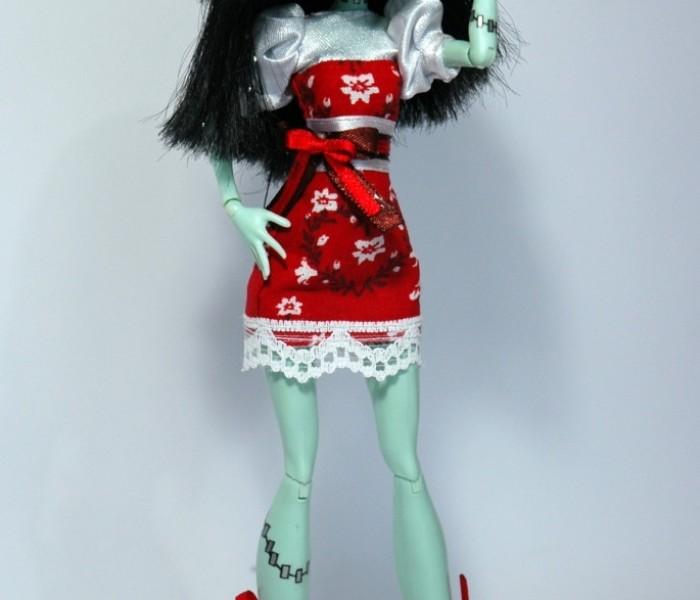 Мастер класс летнее платье и босоножки для кукол Monster High