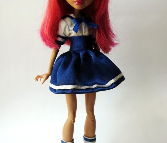 Мастер класс японская школьная для малышек Monster High
