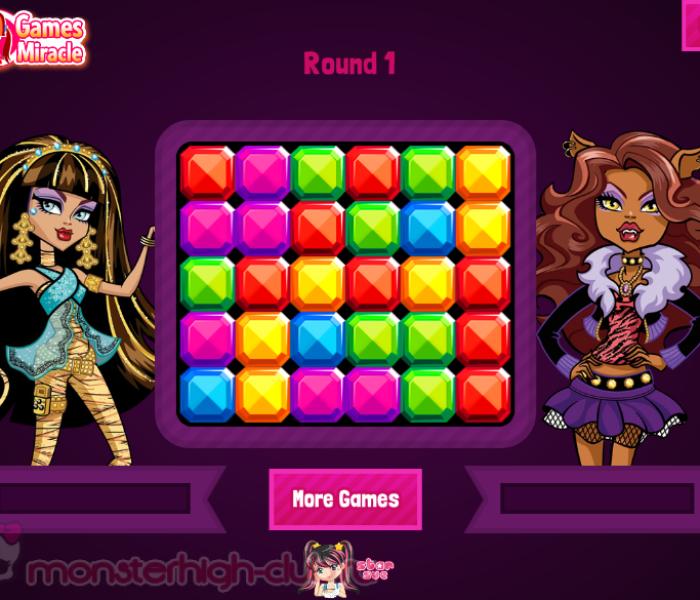 Состязание призрачных кристаллов — игры Monster High