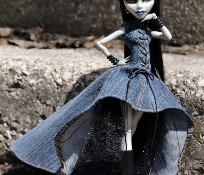 Платье «Городская нимфа» для кукол Monster High