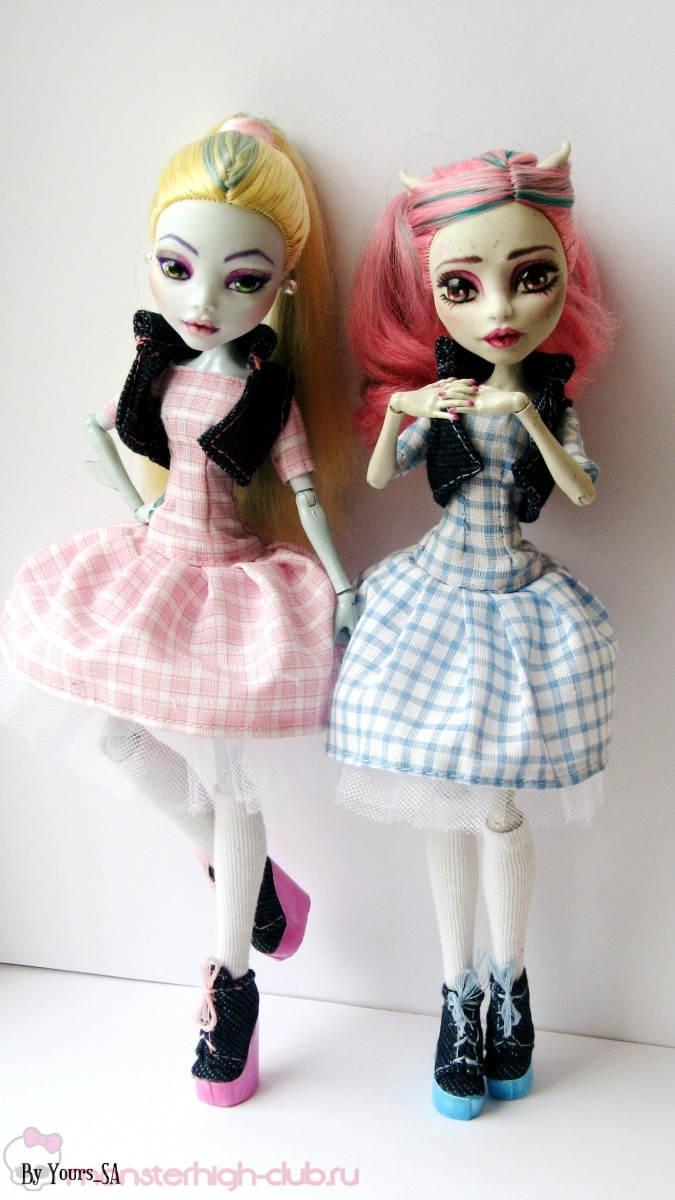 Картинки платьев для кукол своими руками монстр хай 30
