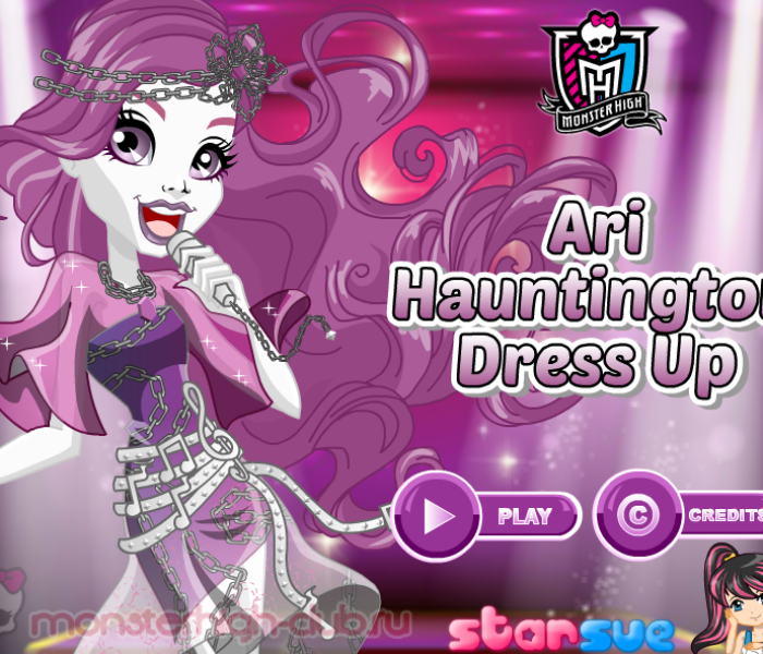 Одевалка Ари Хонтингтон «Welcome to Monster High» — игры Monster High