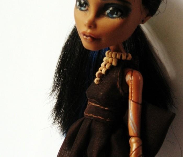Летнее шифоновое платье для кукол Monster High