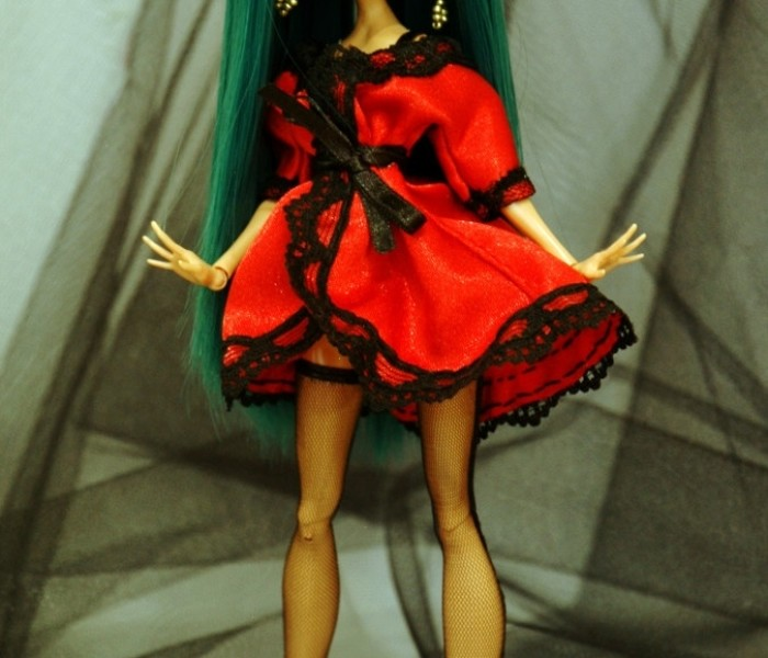 Пеньюар, бельё и туфли для кукол Monster High