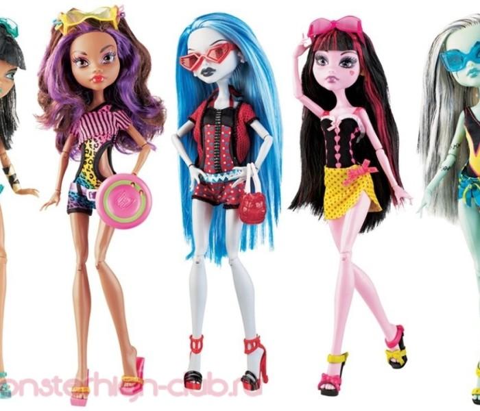 ТОП-3 лучших кукол Monster High из коллекции «Gloom Beach/Мрачный Пляж»
