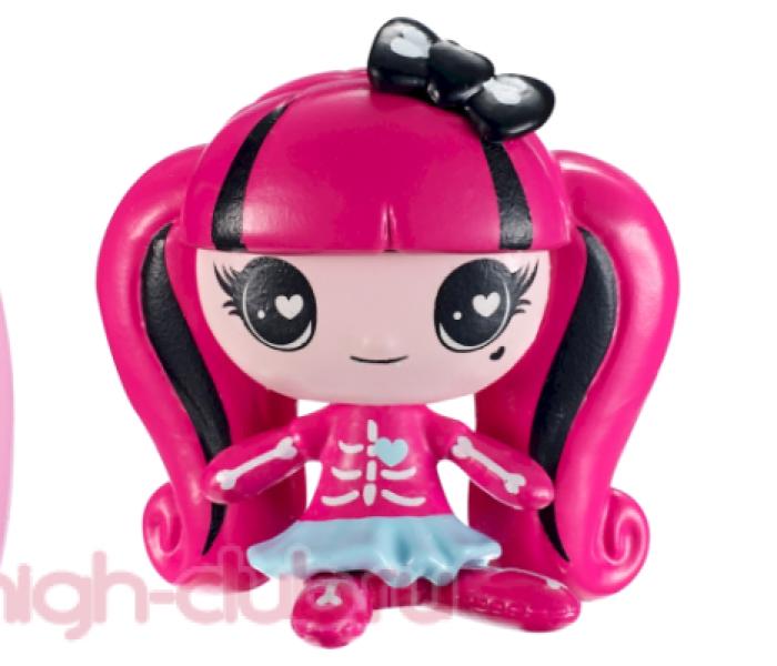 Промо-фото новых мини-фигурок Monster High Minis: Chalk Ghouls, Fruit Ghouls, Teddy Bear Ghouls, Mermaid Ghouls — новые минисы: Авея Троттер, Джиджи Грант!