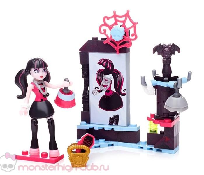 Промо-фото нового набора с конструктором Mega Construx (Mega Bloks Monster High) — Boo-tique Shopping с фигуркой Дракулауры
