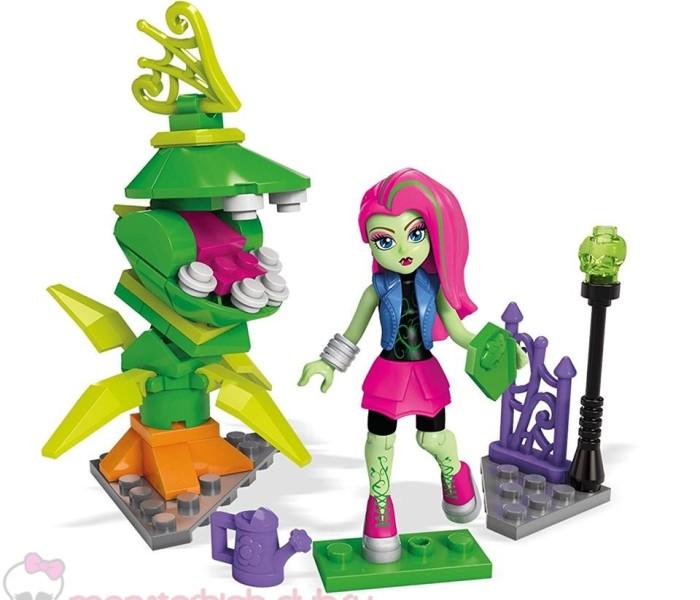 Промо-фото нового набора с конструктором Mega Construx (Mega Bloks Monster High) — Chomping Chewlian с фигуркой Венеры МакФлайтрап