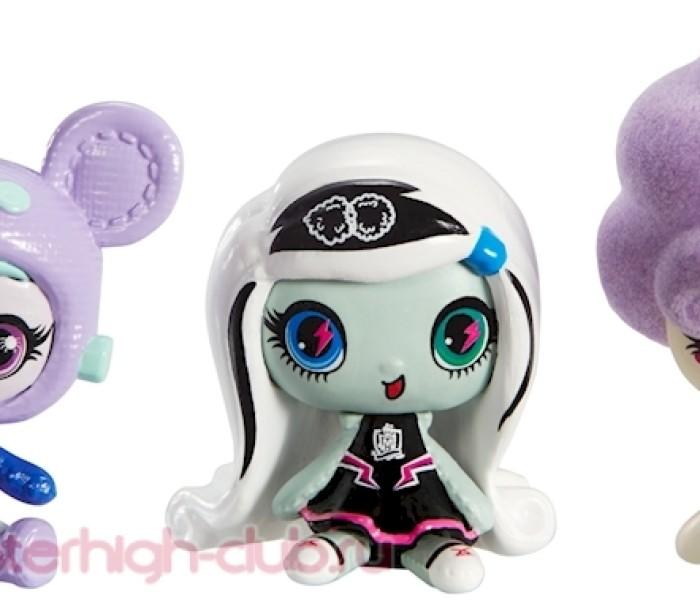 Промо-фото новых 3-пэков Monster High Minis — Твайла, Френки Штейн,Ари Хонтингтон и Лагуна, Кэтти, ДжиДжи Грант